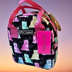 Betsey Johnson Lunch Bag INSULATED Unicorn Cats